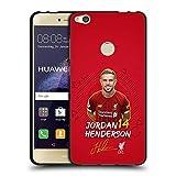 Head Case Designs Licenciado Oficialmente Liverpool Football Club Jordan Henderson 2019/20 Primer Equipo Grupo 1 Funda de Gel Negro Compatible con Huawei P8 Lite (2017)