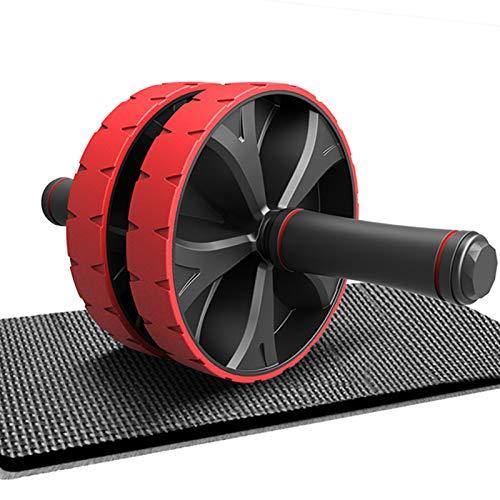 CATOOM 腹筋ローラー マット付き 筋トレグッズ アブローラー 超静音 男性 女性 エクササイズ スリムボディ 筋トレ器具 一年間品質保証 (赤)