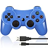 BLUELAKE performance Mando Inalámbrico Bluetooth Controller Doble Vibración para Sony PS3 Playstation 6 con Funciones SIXAXIS