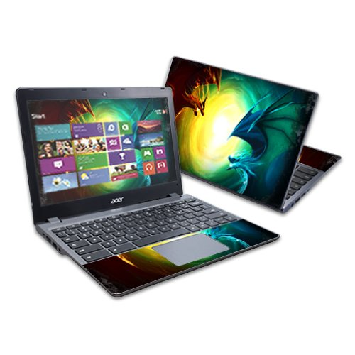 """MightySkins Skin Compatible with Acer C720 Chromebook 11.6"""" wrap Sticker Skins Dragon Battle"""