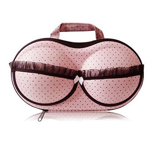 Soutien-gorge Paquet De Soutien-gorge Sac De Stockage Portable Voyage Sous-vêtements De Boîte De Rangement De Boîte De Rangement,Pink