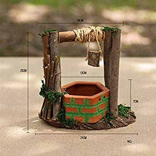 1 PC Flower Pot Wooden Sturdy Cute Creative Floral Device Flower Basin Resin Pot for Landscape Garden Decor Home Ornament
