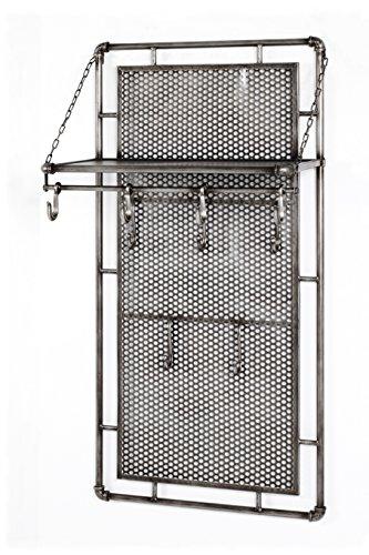 Haku-Möbel Wandgarderobe, Metall, anthrazit, 60 x 35 x 120