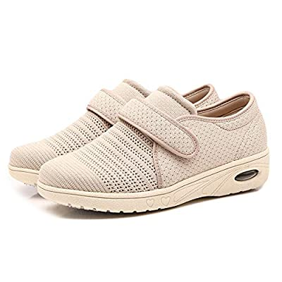 Orthoshoes Womens Edema Shoes Mesh Breathable Lightweight Walking Sneakers Air Cushion for Diabetic, Elderly, Swollen Feet, Plantar Fasciitis