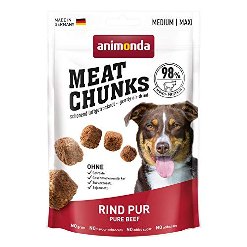 animonda Dog Snack Meat Chunks Rind pur | 12x 80g