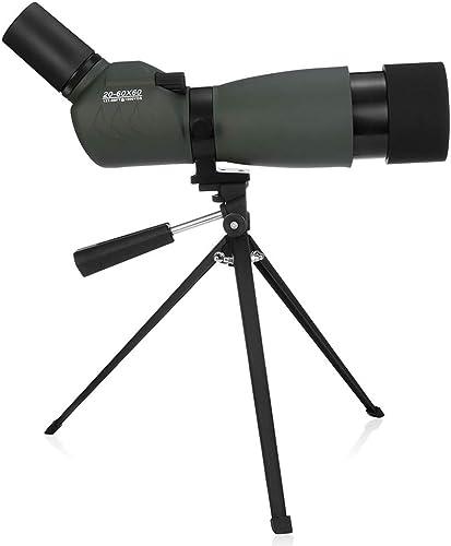 JSX Monoculaire 20-60x60 avec télémètre Zoom d'observation d'oiseaux bak4 étanche avec Trousse de Transport