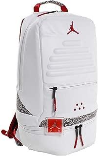Air Jordan Retro 3 III White Backpack Bookbag (One Size, White Fire Red)