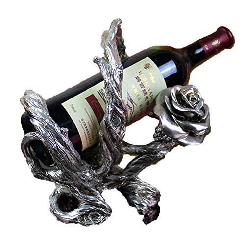 Estantería de vino Sencillo estante del vino, Rose Europea Viña del estante del vino creativo de vino tinto Estante for el Modelo de habitaciones Bar Ktv regalo de boda Decoración estante de v