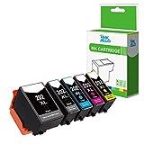 InkJello Compatibile Inchiostro Cartuccia Sostituzione per Epson XP-6000, XP-6005, XP-6100, XP-6100 Series, XP-6105 202XL (Nero/Foto-Nero/Ciano/Magenta/Giallo, 5-pacco)