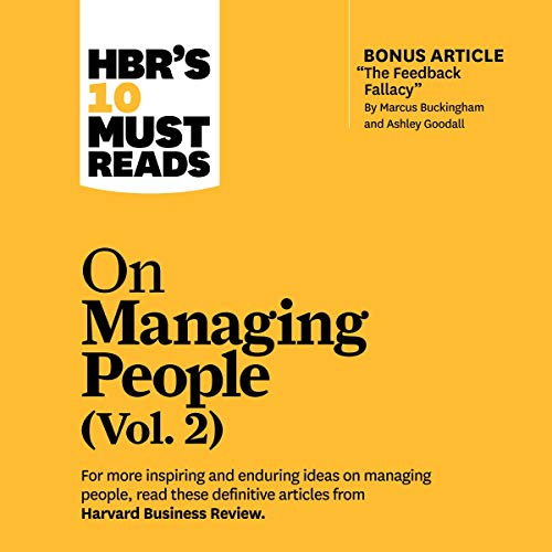 HBR's 10 Must Reads on Managing People, Vol. 2 cover art