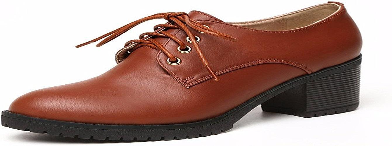 HBDLH Chaussures pour Femmes des Chaussures à Talons Hauts Lace Lacer Tes Chaussures Deep Souliers.