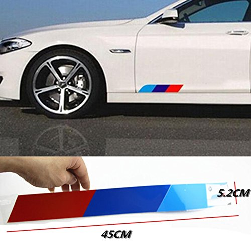 BizTech Reflecterende Auto Sticker M Sport Performance Tech Power 45cm Lange Embleem Strepen