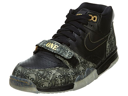 Nike Mens Air Trainer 1 Mid Prm Qs BLACK/METALLIC GOLD/VAPOR GREEN/BLACK 607081-002 10