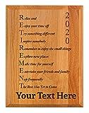 Personalized Retirement Plaque 2020 Custom Name Acrostic Poem Retirement Gifts Women Men Retirement Party 7x9 Oak Wood Custom Engraved Plaque Wood