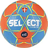 SELECT Combo Ballon de handball Adulte Unisexe, Bleu-Orange Taille 1