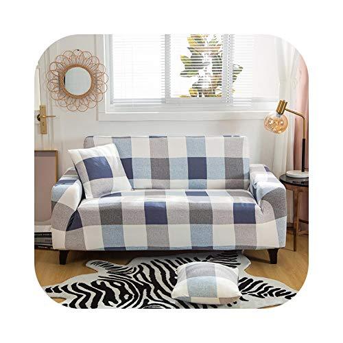 ZaHome Kreuzmuster Sofabezug Baumwolle Set Elastisch Couchbezug Sofabezug für Wohnzimmer Haustiere Cubre Sofa Handtuch 1/2/3/4-Sitzer 1PC-Muster 24-3-Sitzer 190-230cm