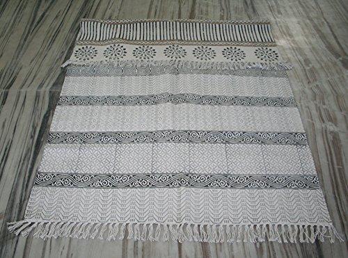 silkroude Kilim Tapis Fait à la Main Coton Kilim Tapis 4 'X6' ft réversible Tapis Kilim Tapis épais