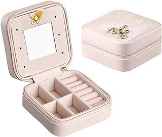 Valyria Travel Jewelry Box Mini Travel Case Girls Jewelry Organizer, Small Portable Jewelry Storage Case for Necklaces Bra...