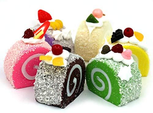 Ducomi Lot de 5 aimants magnétiques 3D pour réfrigérateur et tableau, doux et parfumés, style alimentaire, décoration pour cuisine et bureau, idée cadeau