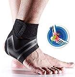 JADE KIT Cavigliera, 2 Pezzi Regolabile Ankle Brace con Traspirante Nylon Elastico Materia...