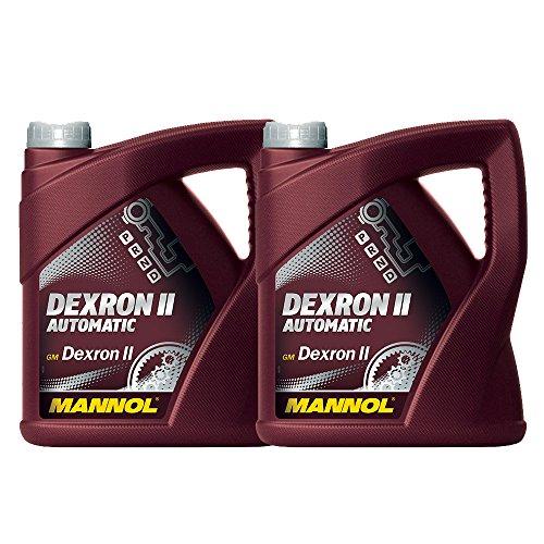 MANNOL 2 x 4L ATF Dexron II Automatic/Automatikgetriebe- Servo- Öl Rot