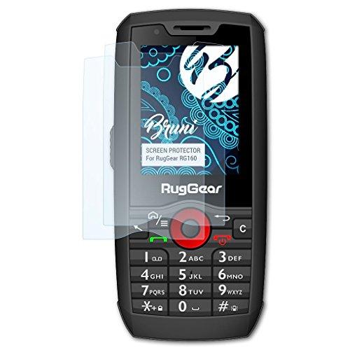 Bruni Schutzfolie kompatibel mit RugGear RG160 Folie, glasklare Bildschirmschutzfolie (2X)