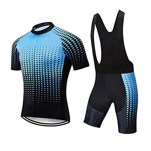 Fitsund - Conjunto de maillot de ciclismo para hombre, transpirable, talla M,...