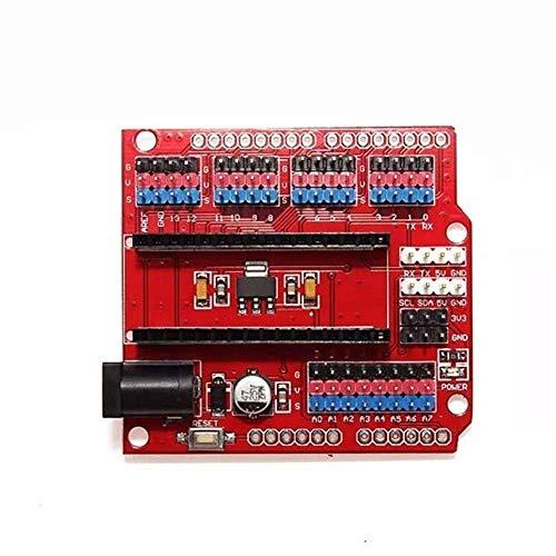 LKK-KK 10pcs Multi-función de expansión Funduino Nano Nano Sensor Escudo módulo Experimental Consejo Científico