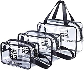 Washing Bag 3 in 1 Gift Bag Plastic Bag Transparent PVC Travel Bag Brush Men and Women Storage Bag Travel Business Bathroom