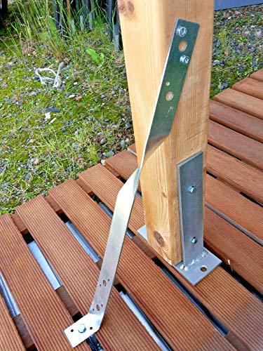 Zaun Anker Holzverbinder Pfosten Sturmanker 40 cm Pfostenstötze Verstärker Carport Wind Anker verzinkt