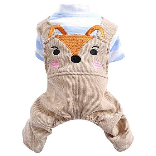 Dünne Pet Kleidung Blaumann Fox Frühling Sommer Baumwolle Hund Katze Liefert Kreative Atmungsaktiv Jogging Kleidung, S