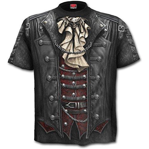 Spiral Goth Wrap Männer T-Shirt schwarz L 100% Baumwolle Everyday Goth, Gothic