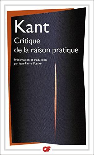 Critique de la raison pratique (Garnier Flammarion / Philosophie t. 1090)