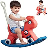 Birtech Baby Rocking Horse, Kid Rocker, Kid Ride on Toy, Infant Rocking Animal, Baby Toys Ride on Car for 1-3 Year Old Boys and Girls Toddler Toys Baby Stroller