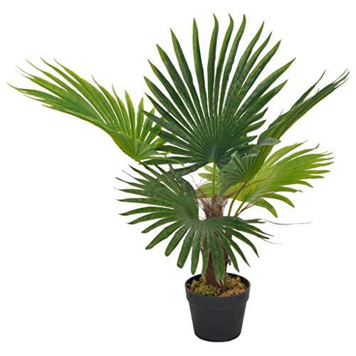 vidaXL Künstliche Pflanze Palme mit Topf Kunstpflanze Dekopflanze Zimmerpflanze Topfpflanze Büropflanze Grünpflanze Deko Zimmer Pflanze Grün 70cm