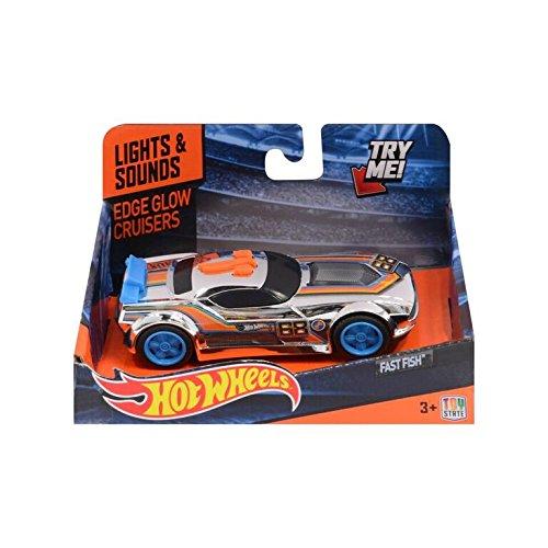 Hot Wheels- Coches con luz y Sonidos (Toy State 90514)