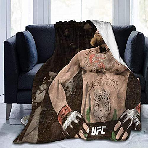 HUA JIE Co-nor McGre-gor Anti Pilling Flanell Ultraweiche und Flauschige Decken für Couchbett und Wohnzimmer 10