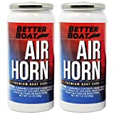 2 Pack Air Horn Refills for 1.4 Ounce Horns Boating Safety Canned Boat Accessories | Marine Grade Airhorn Can Refill - Horn Not Included - 2 Pk (1.4oz)