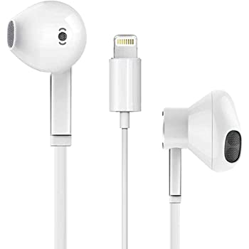iPhone Lightning Headphone[Apple MFi Certified] Apple Earbuds with Lightning Connector(Built-in Microphone & Volume Control&Support Call) Compatible with iPhone SE/11/X/7 8/7 8Plus/6 -All iOS System