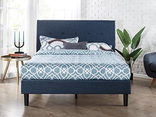 Best Zinus Upholstered Diamond Stitched Platform Bed