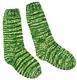 Guru-Shop Handgestrickte Schafwollsocken, Haussocken, Nepal Socken, Herren/Damen, Grün, Wolle, Size:L (42-46), Socken und Beinstulpen Alternative Bekleidung