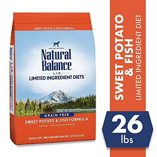 Natural Balance L.I.D. Limited Ingredient Diets Dry Dog Food, Sweet Potato & Fish Formula, 26...
