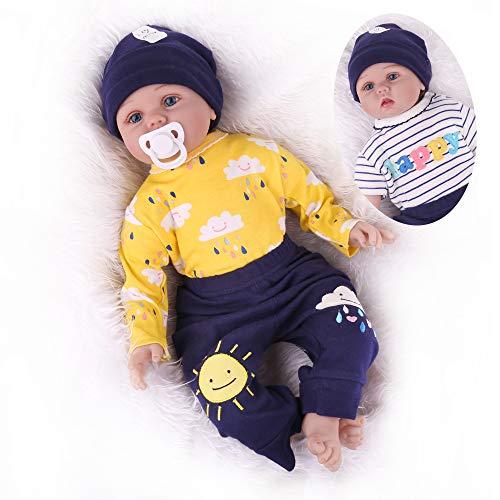 Kaydora Reborn Baby Doll,22 inch Weighted Baby Boy,Lifelike Newborn Doll for Girl