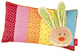 Sigikid - 40.991 - Girl and Boy - Almohada conejo - Multicolor Rainbow Rabbit '- tamaño 35 x 20 cm