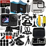 GoPro HERO9 (Hero 9) Action Camera (Black) with Premium Accessory Bundle – Includes: SanDisk Extreme Pro 64GB microSD Memory Card, Spare Battery, Underwater Housing, Carrying Case, & Much More