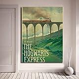 yhnjikl Harry Potter Poster New Vintage Hogwarts Express