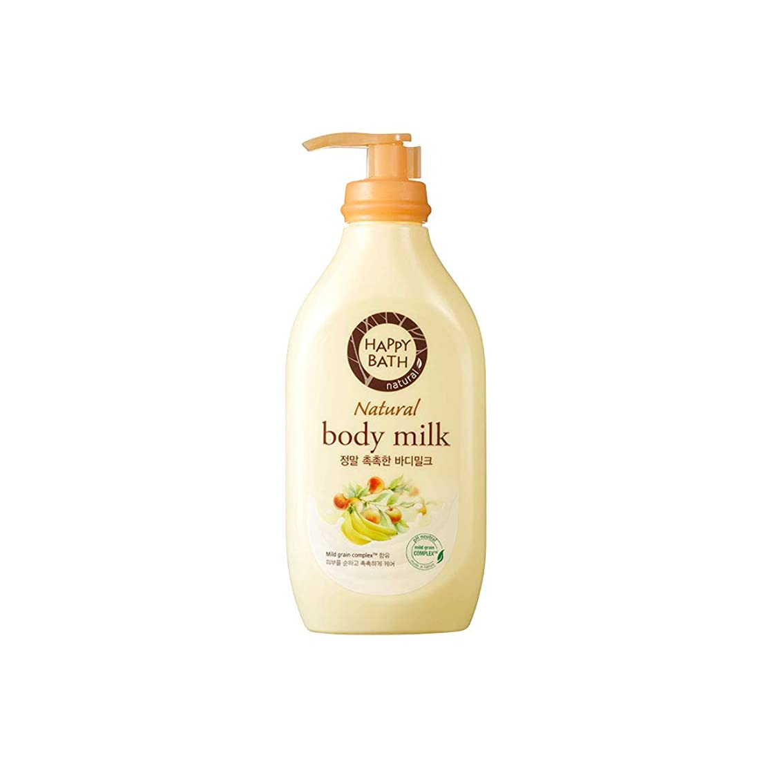 商人新鮮なトライアスリート[HAPPY BATH] ハッピーバス ナチュラルボディミルク しっとりタイプ ボディローション 450ml (moisture body milk 450ml)