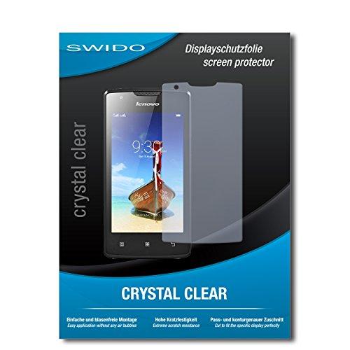 SWIDO Bildschirmschutz für Lenovo A1000 [4 Stück] Kristall-Klar, Hoher Festigkeitgrad, Schutz vor Öl, Staub & Kratzer/Schutzfolie, Bildschirmschutzfolie, Panzerglas Folie