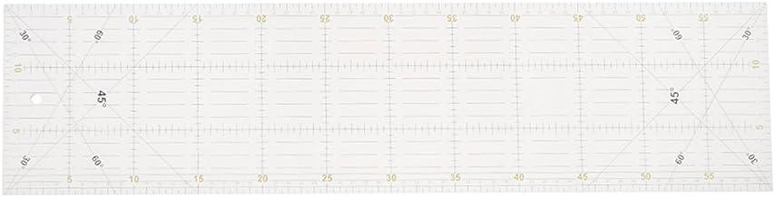 MagiDeal Quilt Patchwork R/ègle de Couture 18x15.5cm Hexagonale Forme Artisant de Couture