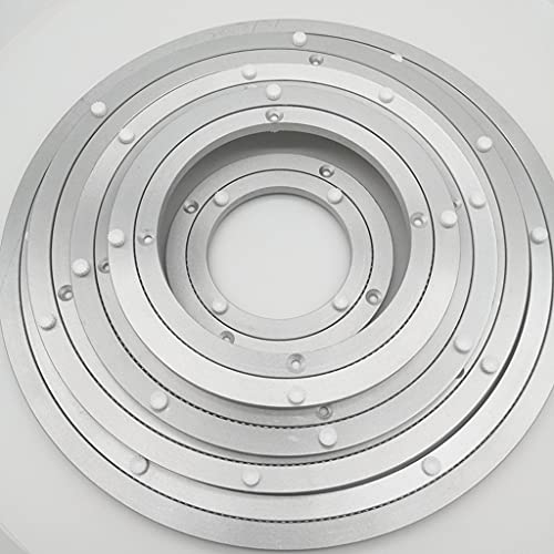 Placa giratoria con anillo de rodamiento de aleación de aluminio, tamaño completo, hardware de placa giratoria giratoria de alta resistencia, para unidad de exhibición de bricolaje, mesa de comedor